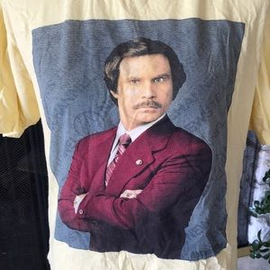 Ron Burgundy Anchorman Yellow Shirt